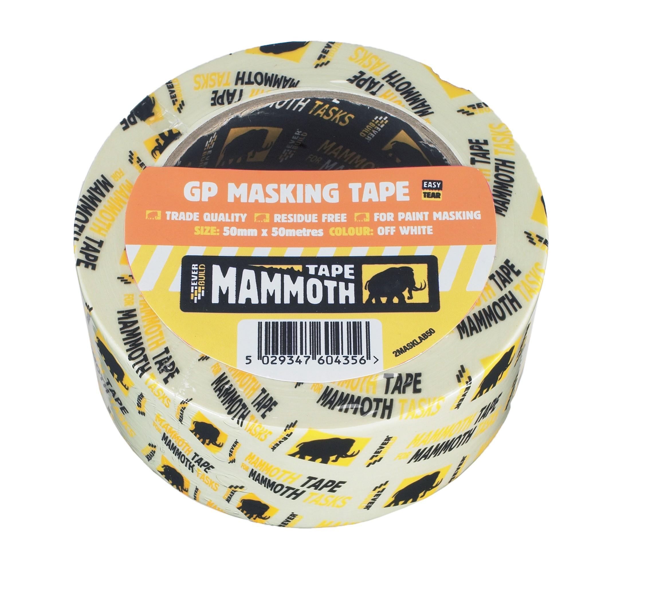 SikaEverbuild Mammoth GP Masking Tape Off White