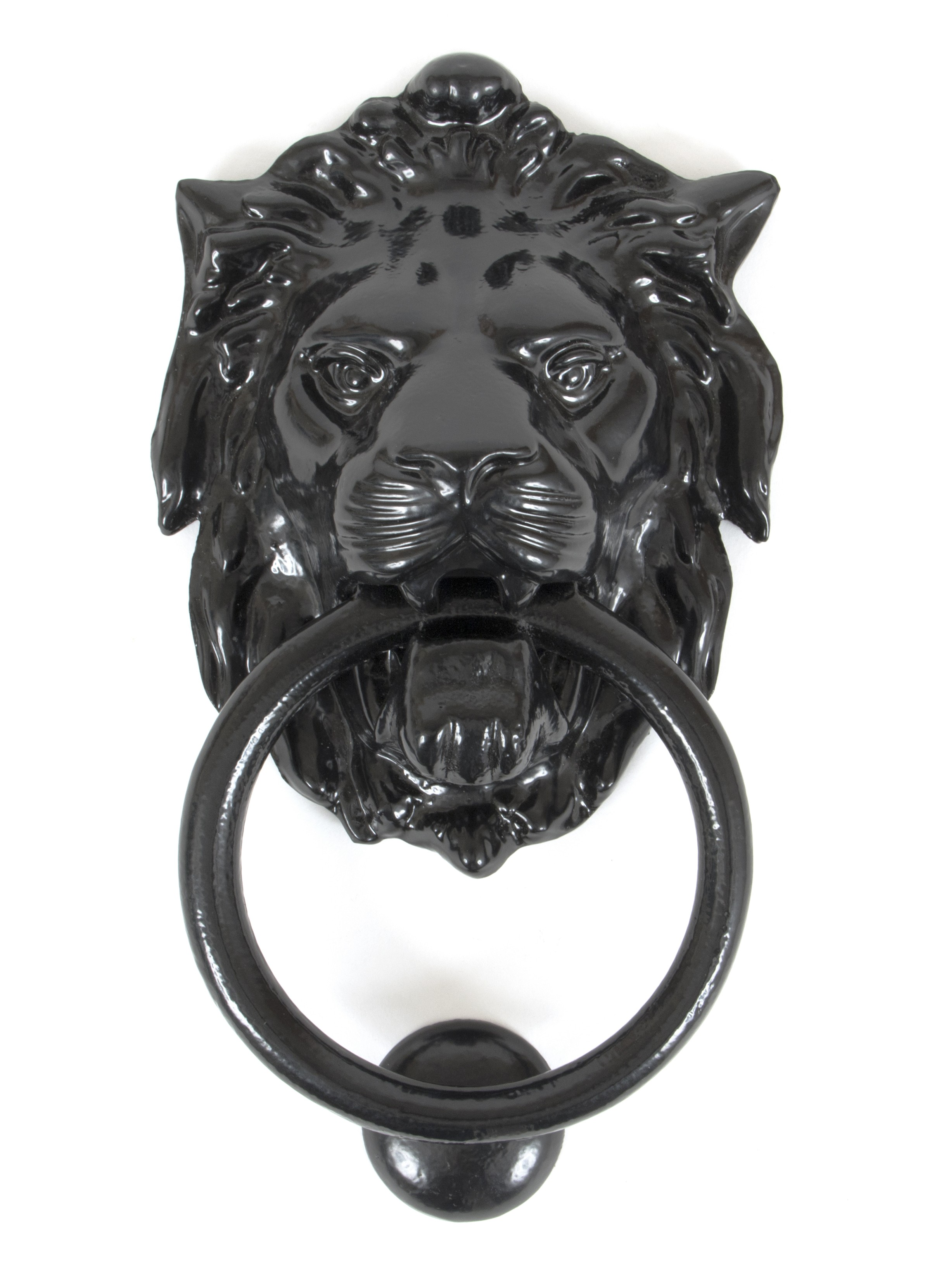 ANVIL - Lion's Head Door Knocker - Black