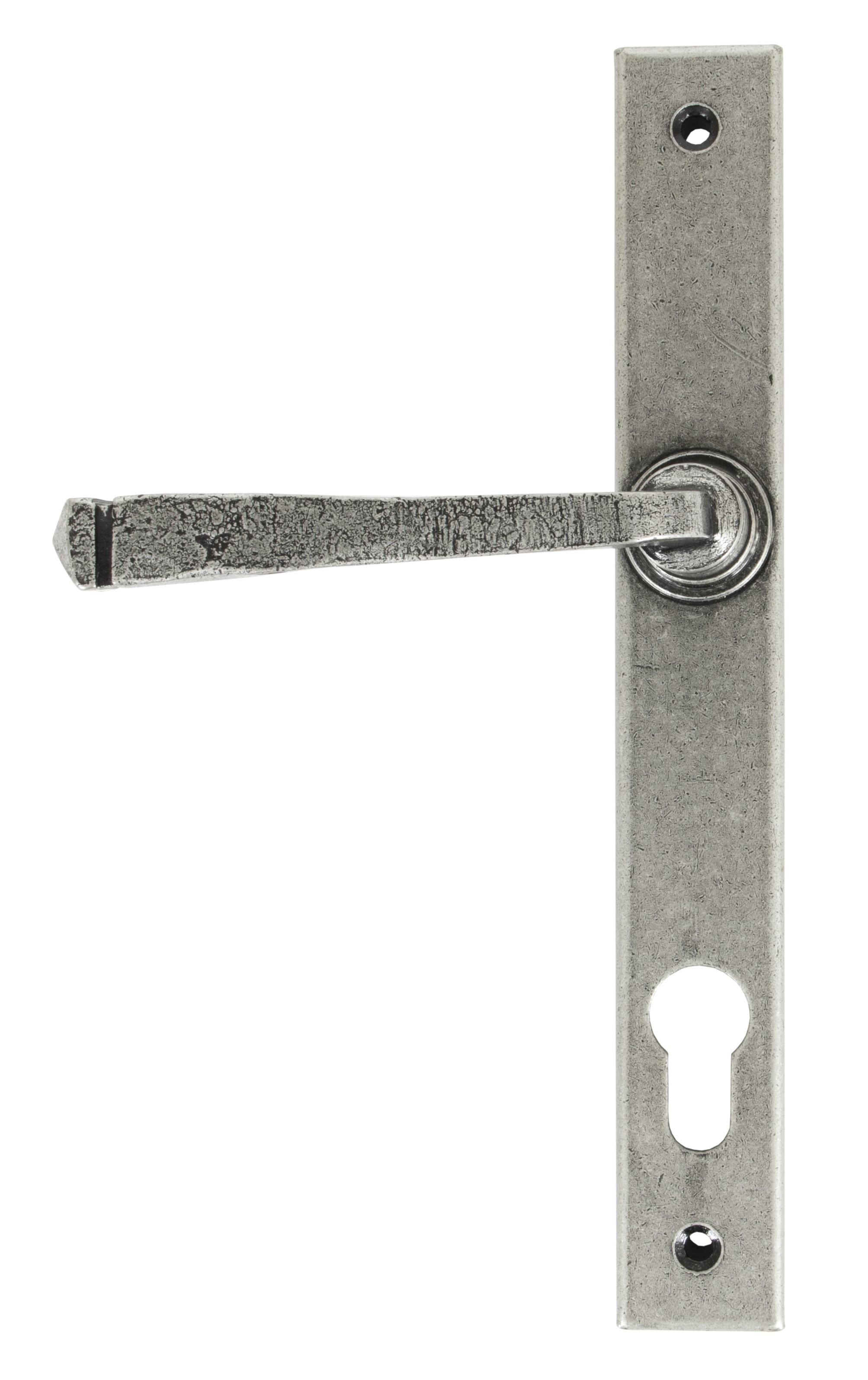 ANVIL - Avon Slimline Lever Espag. Lock Set - Pewter Patina