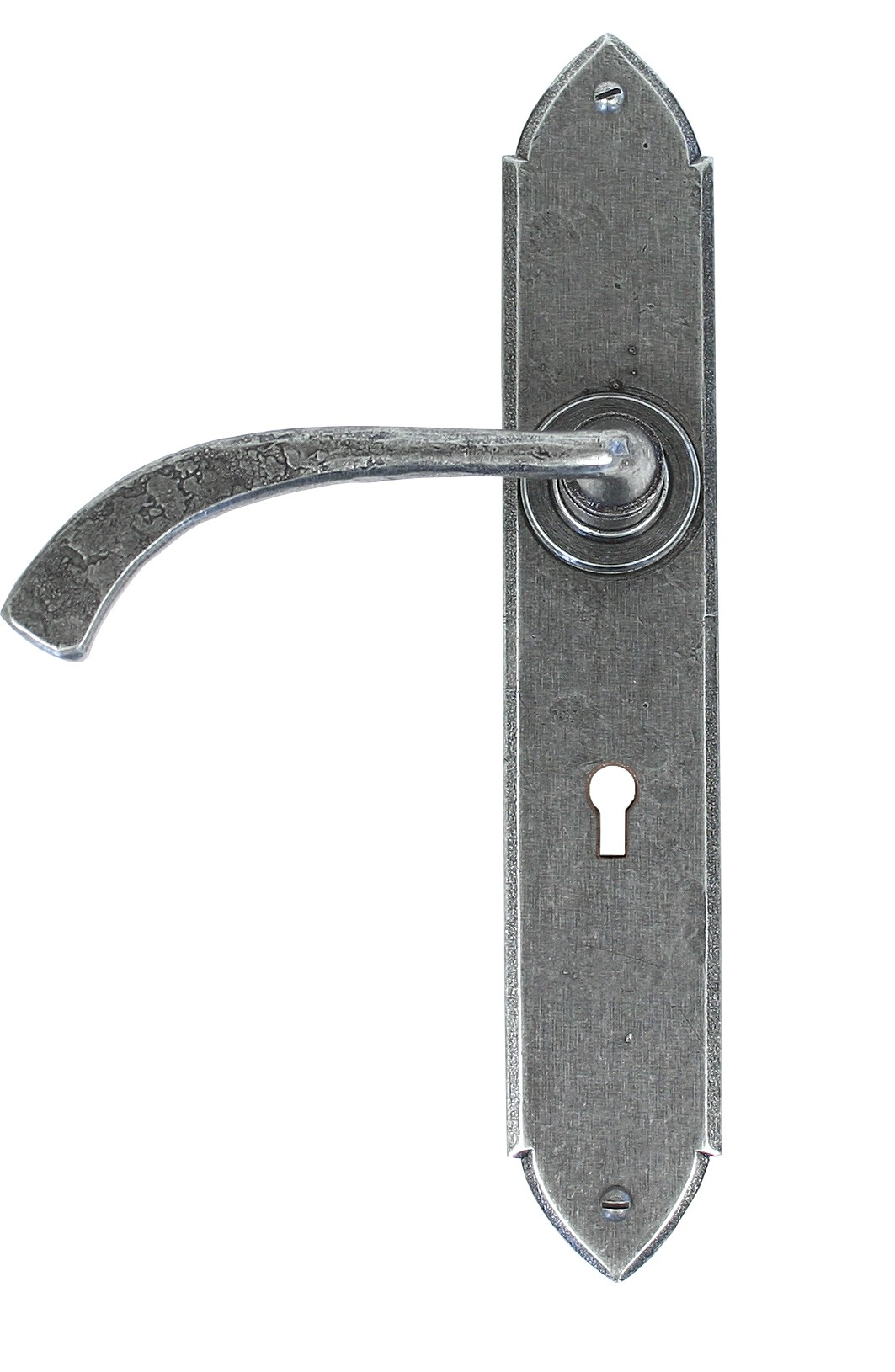 ANVIL - Pewter Gothic Curved Sprung Lever Lock Set