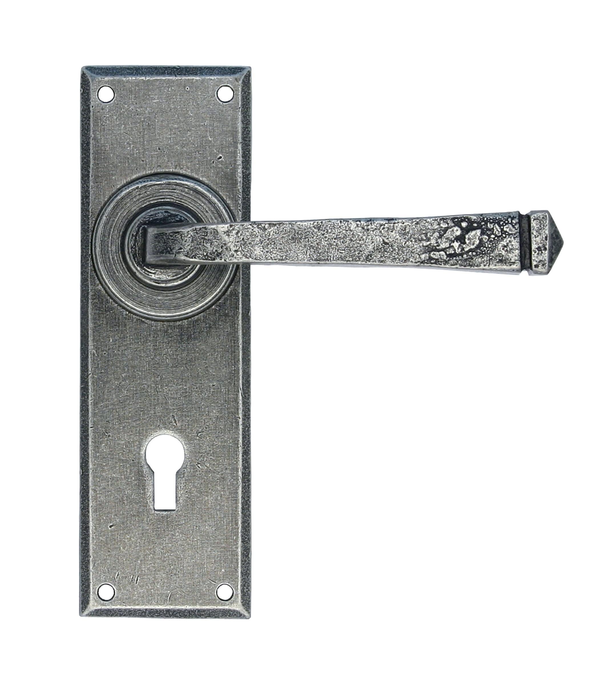 ANVIL - Pewter Patina Avon Pewter Lever Lock Set