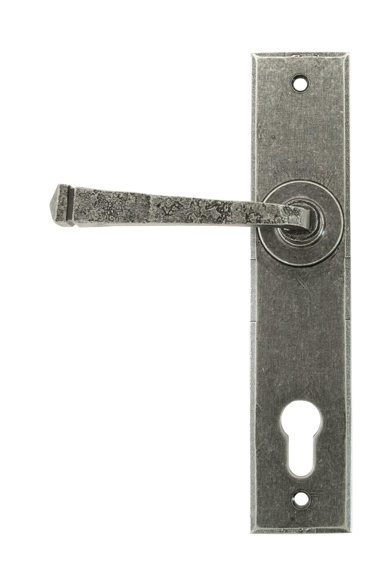 ANVIL - Pewter Avon Lever Espag. Lock Set