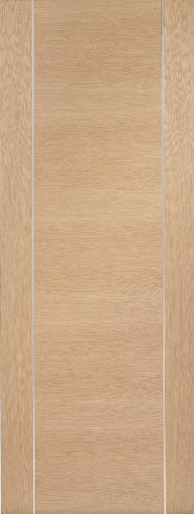 XL JOINERY DOORS -  PFINTOFOR33  Internal Oak Pre-Finished Forli (Alum Inlay)  PFINTOFOR33