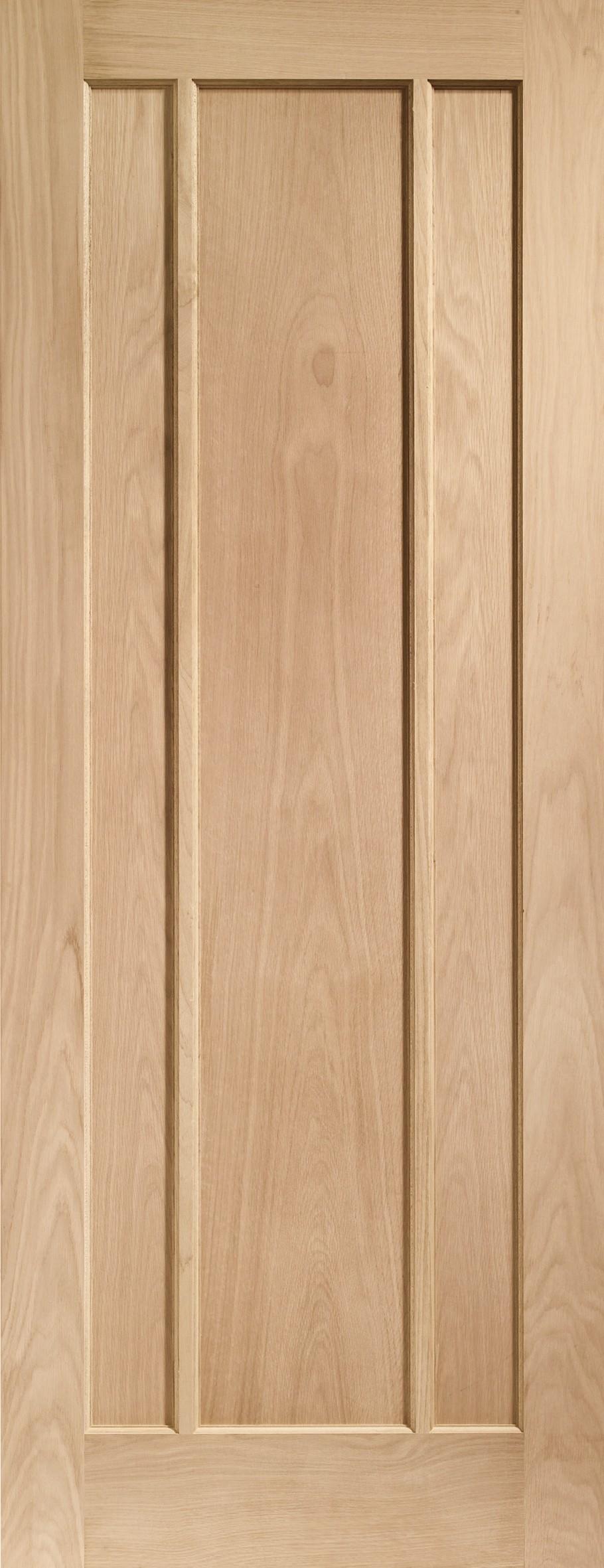 XL JOINERY DOORS -  INTOWOR18  Worcester 3 Panel Internal Oak Door   INTOWOR18