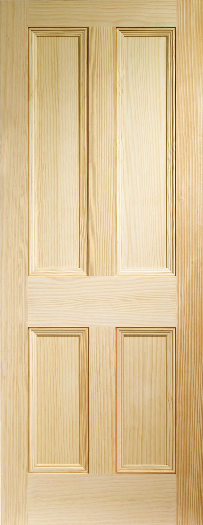XL JOINERY DOORS -  VGEDW4P28  Internal Vertical Grain Clear Pine Edwardian 4 Panel  VGEDW4P28