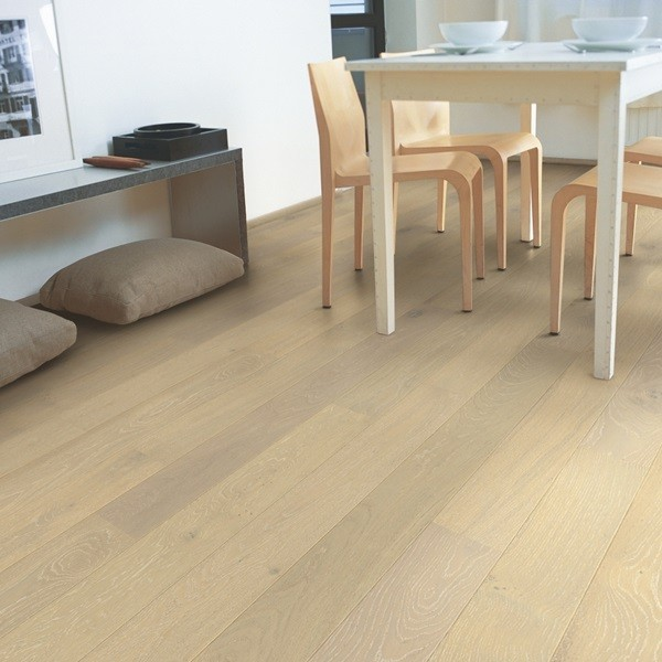QUICK STEP WOOD FLOORING Oak Snowflake White Extra Matt