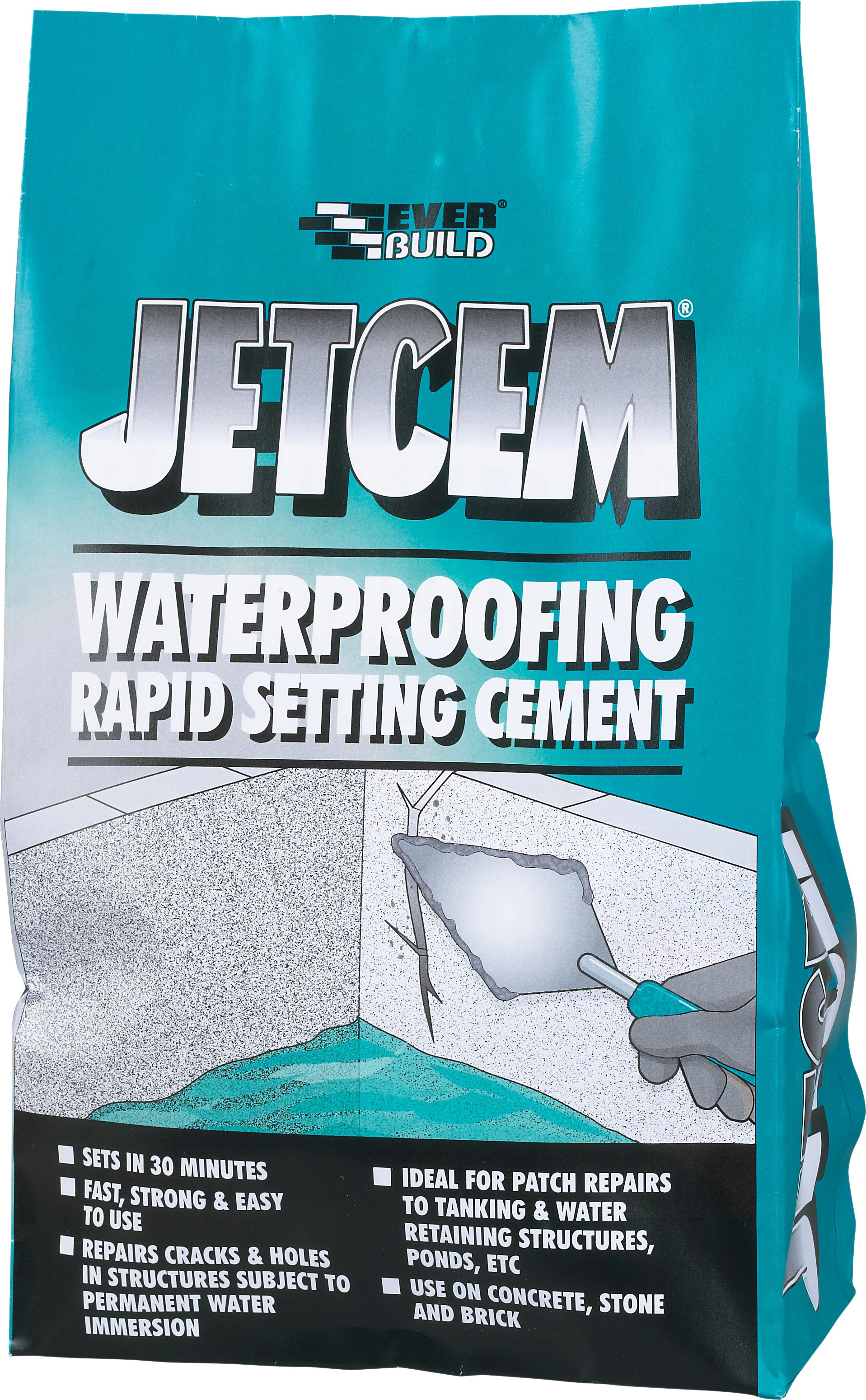 SikaEverbuild JETCEM Waterproofing Rapid Setting Cement 3kg [SIKJETWAT3]