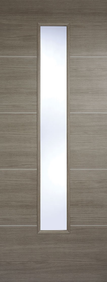 """LPD - Internal Door - Light Grey Laminated Santandor Glazed 1981 x 762 (30"""")  LAMLGRSANGL30"""