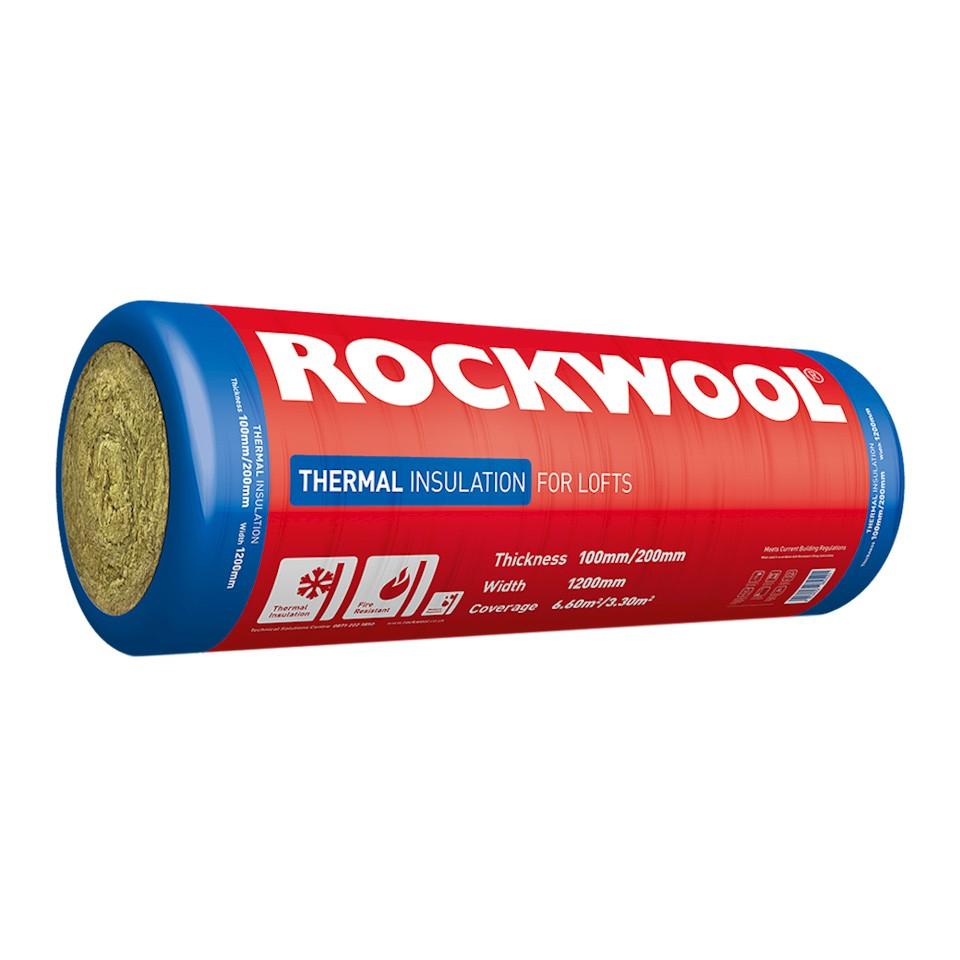 ROCKWOOL 100x1200x2750mm Thermal Insulation -6.6M2  ROCK180900
