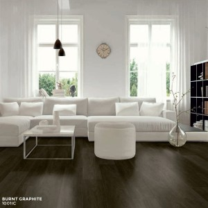 Ibrido Icona Plank Wood Flooring 1220x182x6.5mm - Burnt Graphite  1001IC