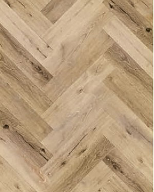 Ibrido Herringbone Wood Flooring 600x182x6.5mm - Natural Oak  1011IH