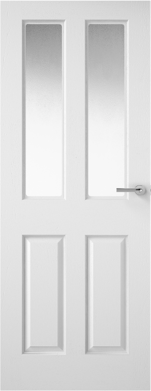 Premdor 2 Light Textured Internal Door - with Obscure Glass