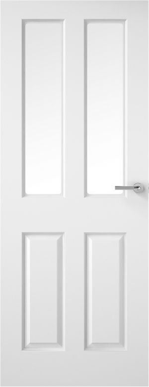 Premdor 2 Light Smooth Internal Door - with Clear Glass