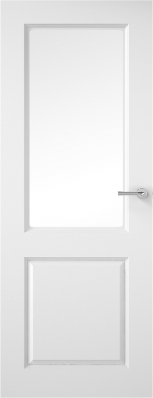 Premdor Half Light Smooth Internal Door - with Clear Glass