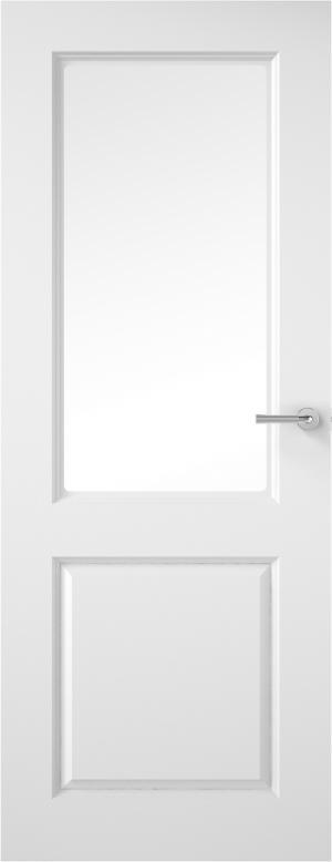 Premdor Half Light Smooth Internal Door - with Clear Glass