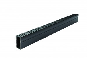 ACO DRAIN - ACO19005 Threshold A15 Channel & Black Grate -1.0M          ACO19005