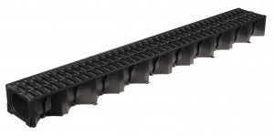 ACO DRAIN - ACO19310 1m Hexdrain Channel & Black Plastic Grat           ACO19310
