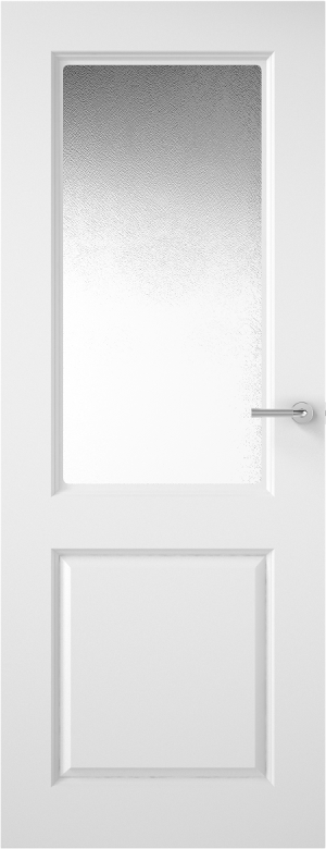 Premdor Half Light Smooth Internal Door - with Obscure Glass