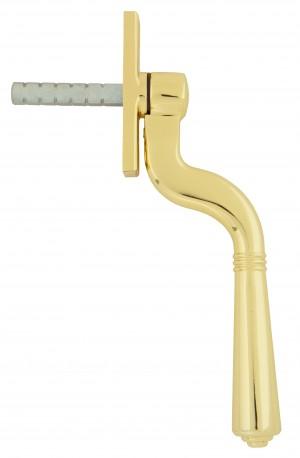 ANVIL - Polished Brass Teardrop Espag. Window Handle  Anvil20461