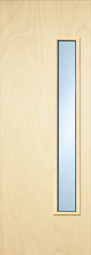 Premdor Popular Paint Grade 18G Internal Fire Door - With Clear Wired Glass