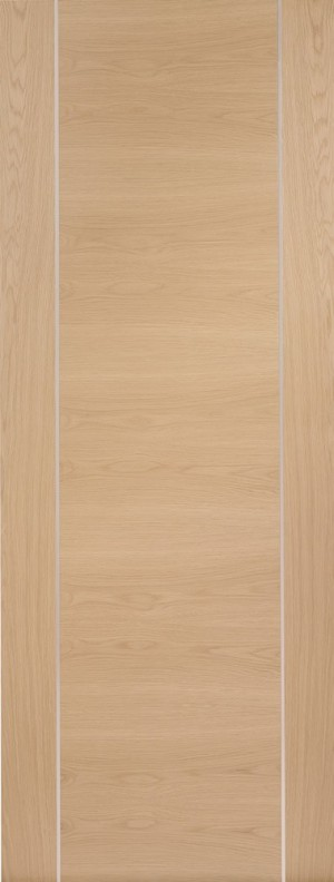 XL JOINERY DOORS -  PFINTOFOR826 Internal Oak Pre-Finished Forli (Alum Inlay)  PFINTOFOR826