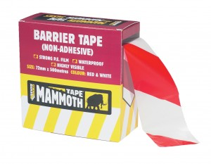 SikaEverbuild Mammoth Barrier Tape 72mm x500m Red &White [EVB2BARRD500]