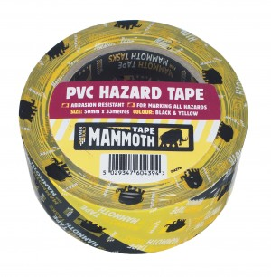SikaEverbuild Mammoth PVC Hazard Warning Tape 50mm x33m