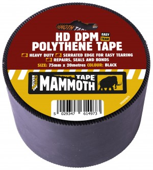 SikaEverbuild HD DPM Polythene Tape 75mm x20m Black [EV2HDDPM75]