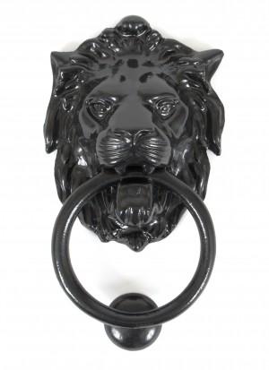 ANVIL - Lion's Head Door Knocker - Black