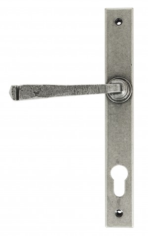 ANVIL - Avon Slimline Lever Espag. Lock Set - Pewter Patina