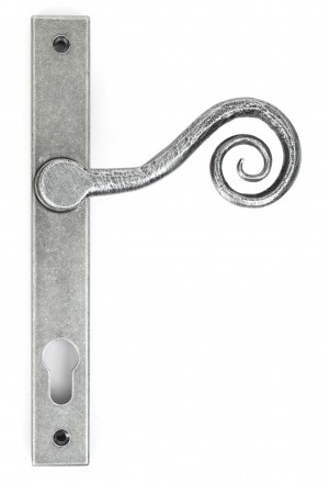 ANVIL - Pewter Patina Monkeytail Slimline Lever Espag. Lock Set - LH