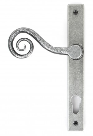 ANVIL - Pewter Patina Monkeytail Slimline Lever Espag. Lock Set - RH