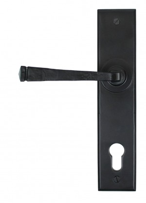 ANVIL - Black Avon Lever Espag. Lock Set
