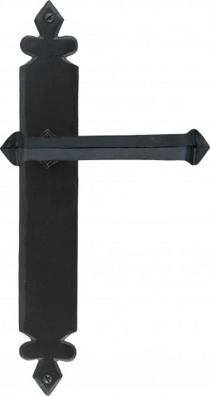 ANVIL - Black Tudor Lever Latch Set