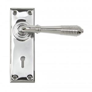 ANVIL - Polished Chrome Reeded Lever Lock Set  Anvil33306