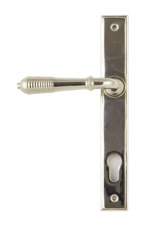 ANVIL - Polished Nickel Reeded Slimline Lever Espag. Lock Set  Anvil33316