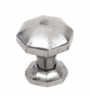 ANVIL - Natural Smooth Octagonal Cabinet Knobs - Small  Anvil33366