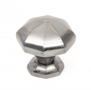 ANVIL - Natural Smooth Octagonal Cabinet Knobs - Large