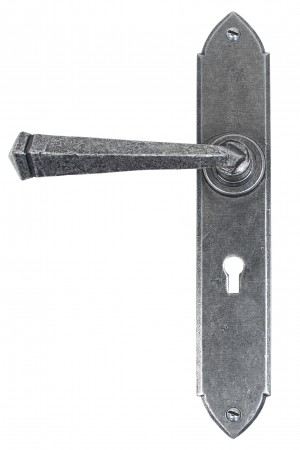 ANVIL - Pewter Gothic Lever Lock Set  Anvil33600