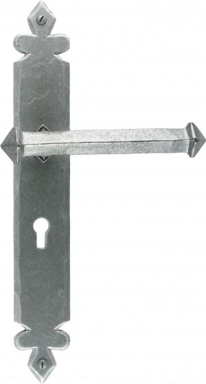ANVIL - Pewter Tudor Lever Lock Set  Anvil33608