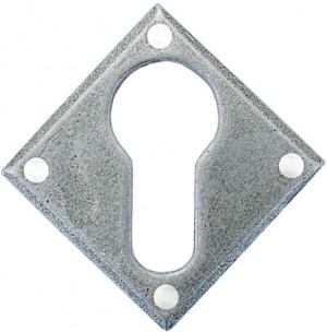 ANVIL - Pewter Diamond Euro Escutcheon  Anvil33622
