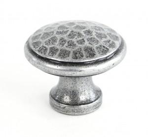 ANVIL - Pewter Beaten Cupboard Knob - Medium  Anvil33626
