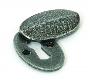 ANVIL - Pewter Oval Escutcheon & Cover