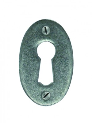 ANVIL - Pewter Oval Escutcheon
