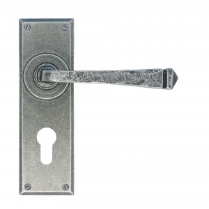 ANVIL - Pewter Avon Pewter Euro Lever Lock Set
