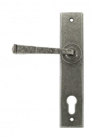 ANVIL - Pewter Avon Lever Espag. Lock Set