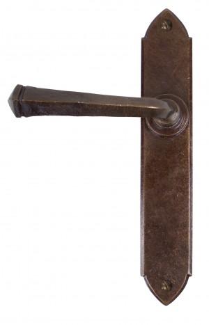 ANVIL - Bronze Gothic Lever Latch Set