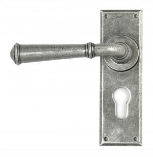 ANVIL - Pewter Regency Lever Euro Lock Set