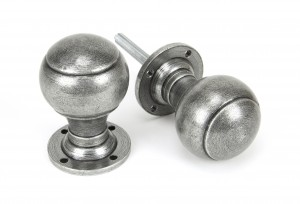 ANVIL - Pewter Regency Mortice/Rim Knob Set