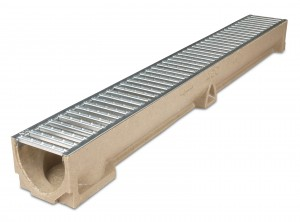 ACO DRAIN - ACO47000 Raindrain + Channel c/w Galv Grating